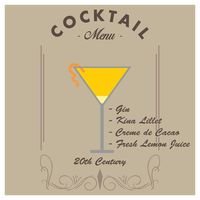 20th century cocktail drink