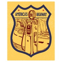 66 america's highway road sign