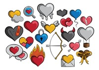 A collection of different types of hearts