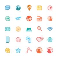 A collection of social media icons
