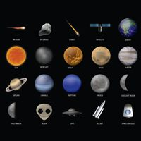 A collection of space items