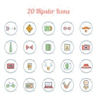 A set of hipster icons