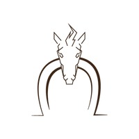 Abstract horse face icon