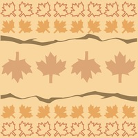 Abstract maple leaves background