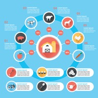 Agricultural icons infographic
