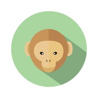 An icon of a monkey head
