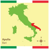 Apulia on italy map