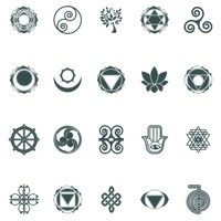 Icon Icons Set Sets Collection Collections Symbol Symbols Yoga ...