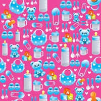 Baby items background