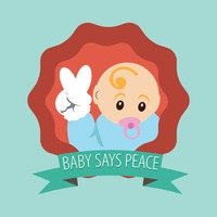 Baby says peace