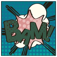Bam comic speech bubble