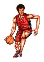 Basketball player in a game