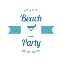 Beach party design element