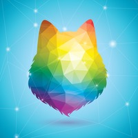 Bear in rainbow colors