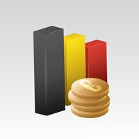 Belgium flag with euro coins