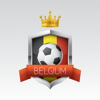 Belgium flag with football