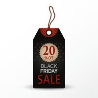 Black friday offer tag