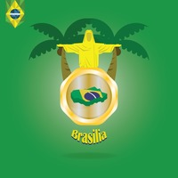 Brasilia map wallpaper