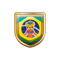 Brazil badge with carnival costume