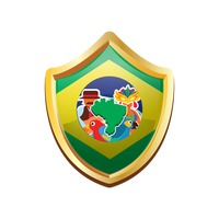Brazil badge with map
