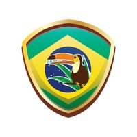 Brazil badge with toco toucan bird