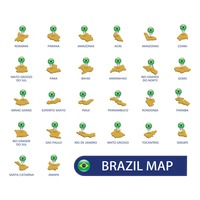 Brazil map collection