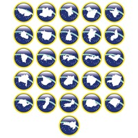 Brazil map icons