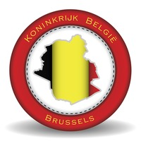 Brussels map sticker