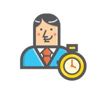 Businessman and timer