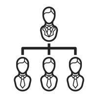 Businessman hierarchy