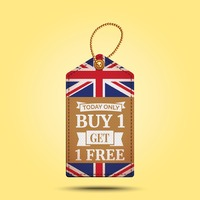 Buy one get one free offer tag