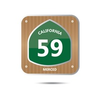 California route fifty nine road sign