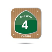 California route four road sign