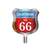 California route signboard