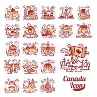 Canada icons collection
