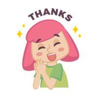 Cartoon character saying thank you Vector Image - 1957207 ...