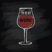 Chalk wine glass icon