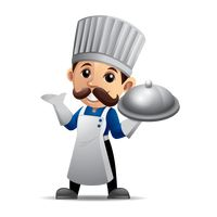 Chef holding a cloche
