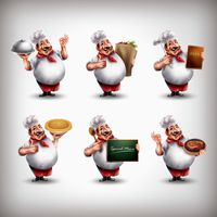 Chef with different activities set