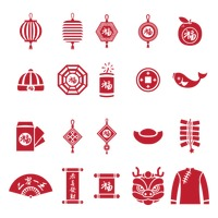 Chinese new year icons collection