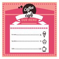 Coffee cafe menu card design