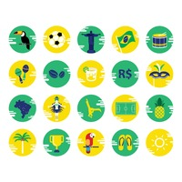 Collection brazil icons