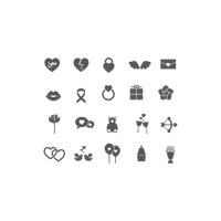 Collection love icons