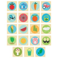Collection of agricultural icons