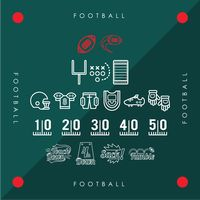 Collection of american football icons