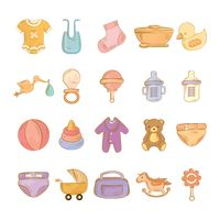 Collection of baby items