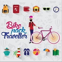 Collection of bike pack traveller elements