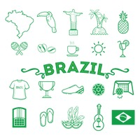 Collection of brazil icon