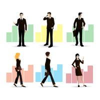 Collection of businessman and businesswoman