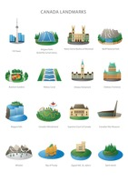 Collection of canada landmarks